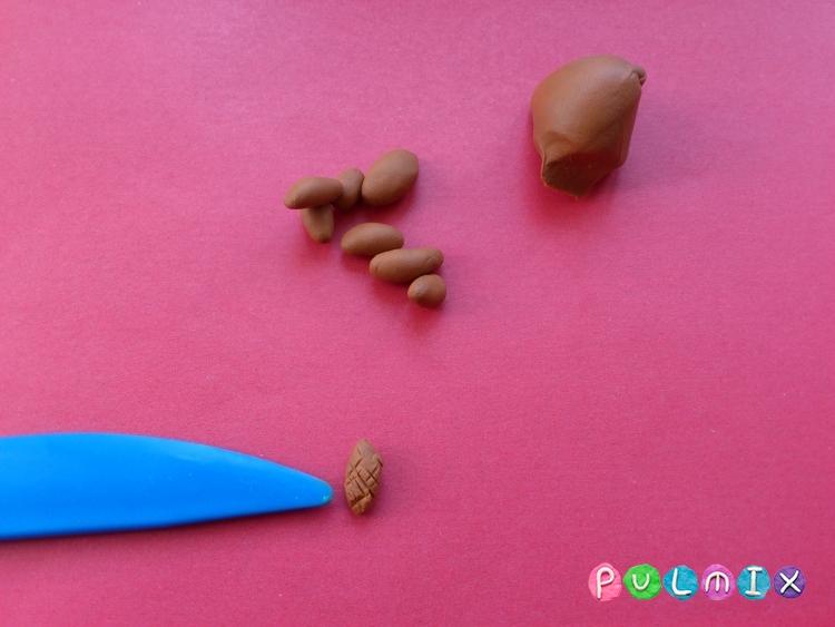 Как слепить сосну из пластилина  - шаг 6