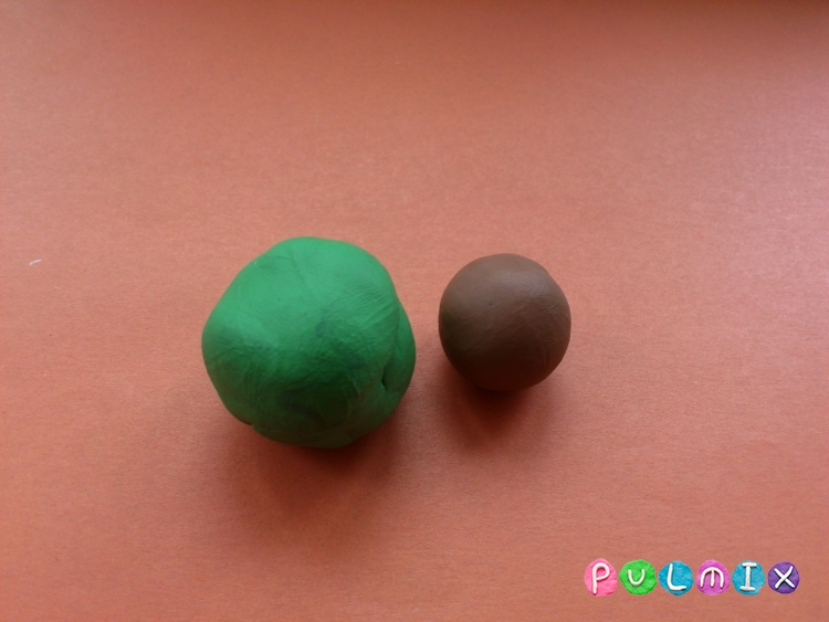 Как слепить тополь из пластилина - шаг 2
