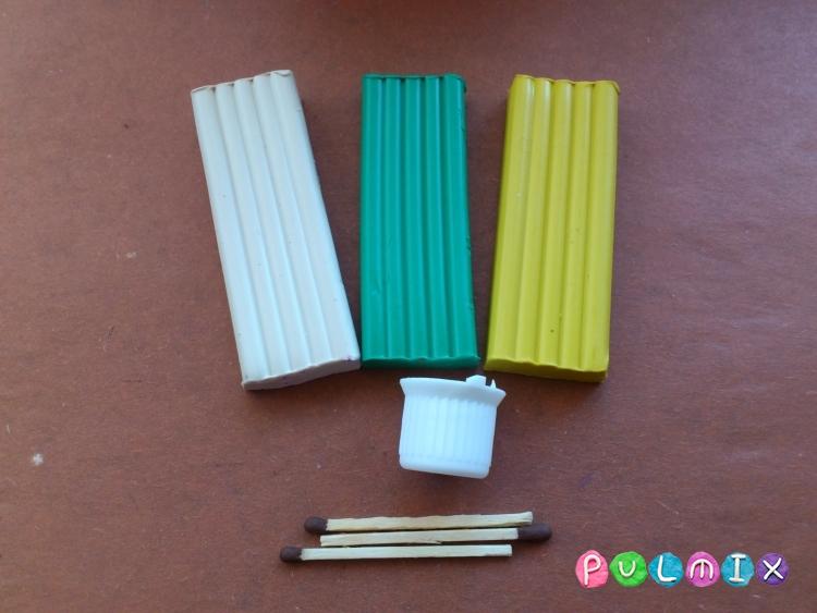 Как сделать букет ромашек из пластилина своими руками - шаг 1