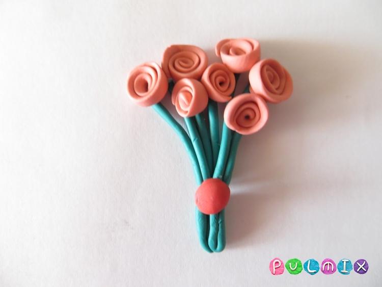 Как слепить букет роз из пластилина поэтапно - шаг 6