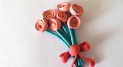 Как слепить букет роз из пластилина своими руками