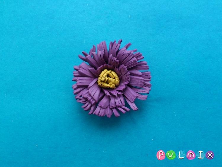 Как слепить цветок астру из пластилина поэтапно - шаг 10