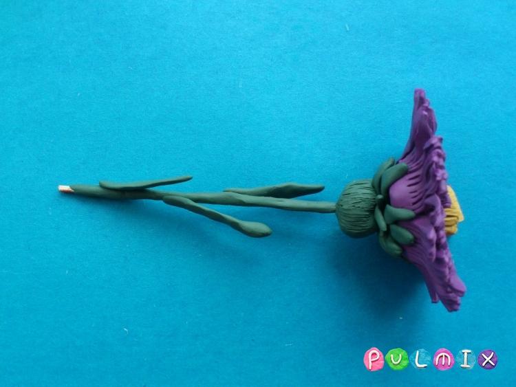Как слепить цветок астру из пластилина поэтапно - шаг 13