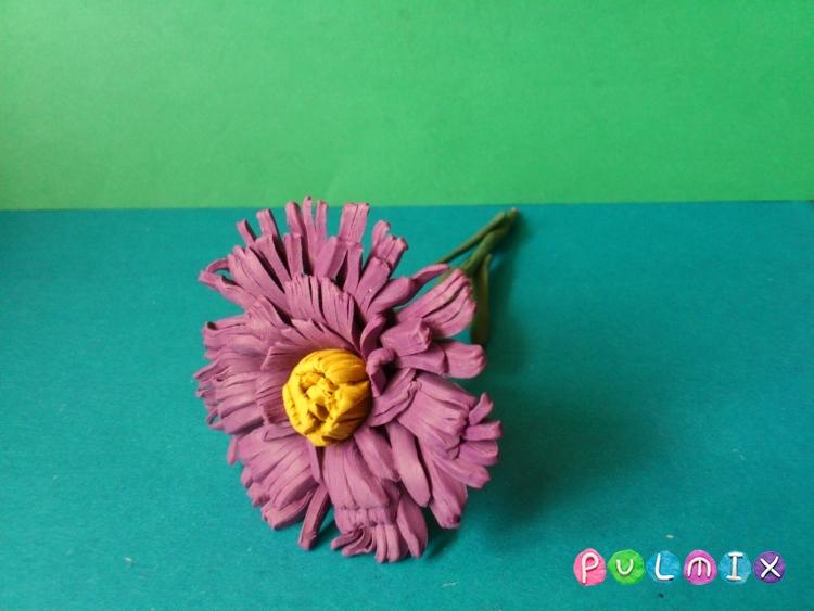 Как слепить цветок астру из пластилина поэтапно - шаг 14