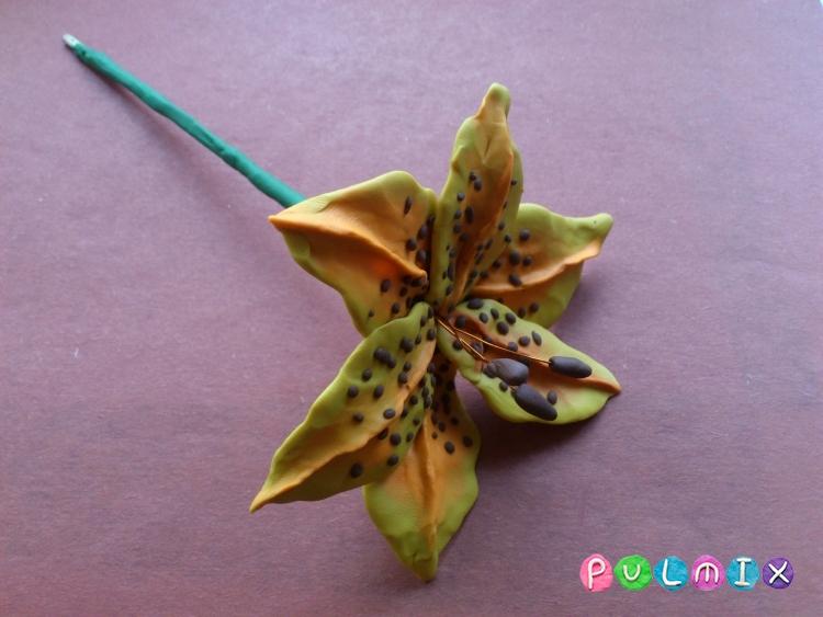 Как слепить цветок лилию из пластилина поэтапно - шаг 13