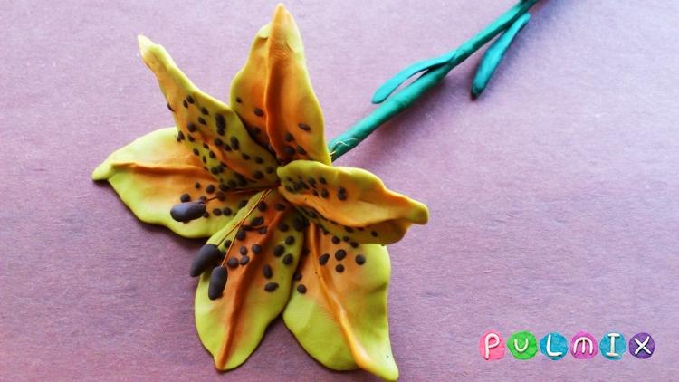 Как слепить цветы из пластилина