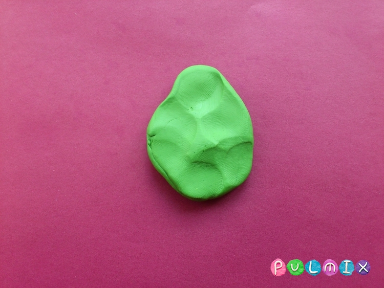Как слепить дерево каштан из пластилина поэтапно - шаг 3