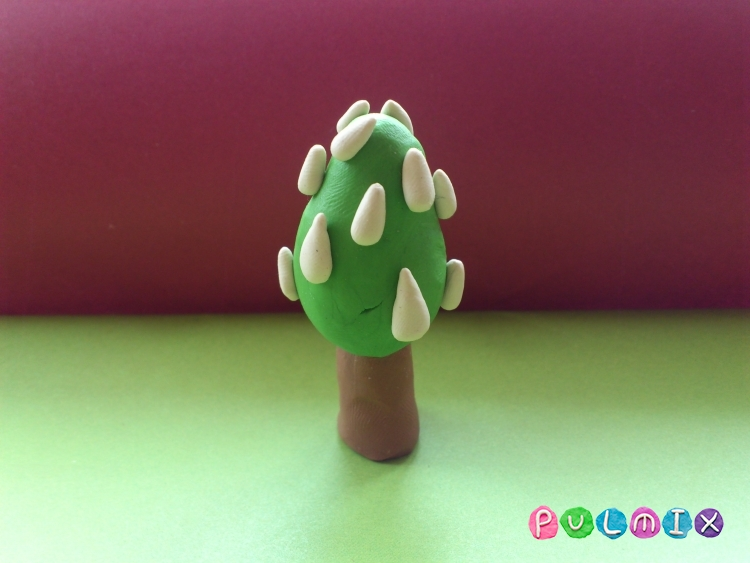 Как слепить дерево каштан из пластилина поэтапно - шаг 8