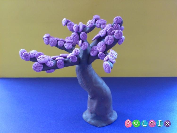 Как слепить дерево сакура из пластилина поэтапно - шаг 9