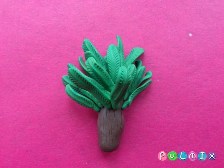 Как слепить финиковую пальму из пластилина поэтапно - шаг 11