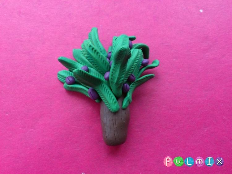 Как слепить финиковую пальму из пластилина поэтапно - шаг 12