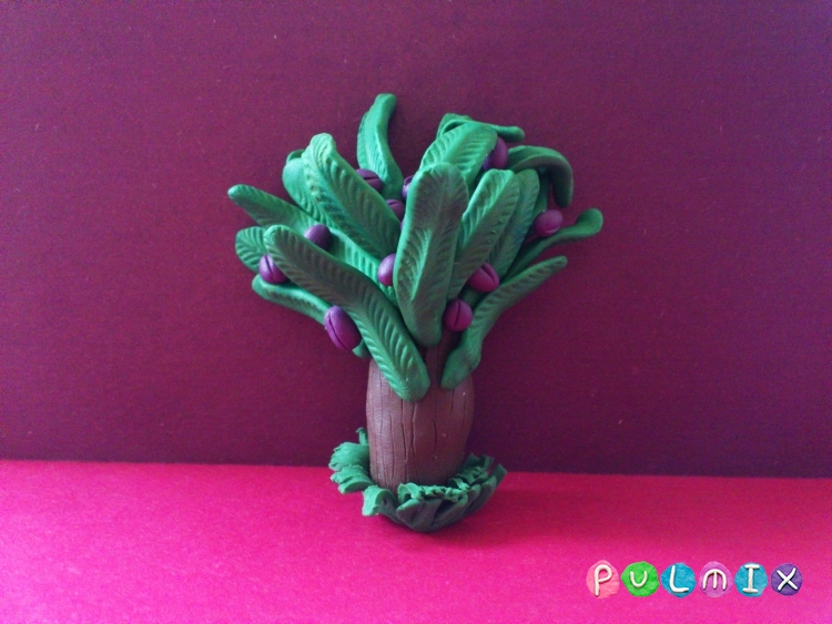 Как слепить финиковую пальму из пластилина поэтапно - шаг 15
