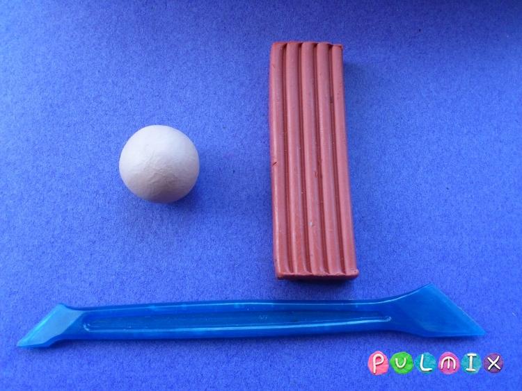 Как слепить гриб из пластилина поэтапно - шаг 1