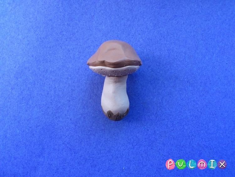 Как слепить гриб из пластилина поэтапно - шаг 8