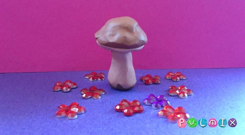 Как слепить гриб из пластилина поэтапно