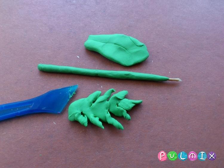 Как слепить хризантему из пластилина поэтапно - шаг 11