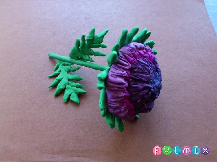Как слепить хризантему из пластилина поэтапно - шаг 13