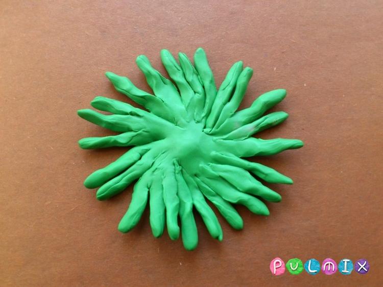 Как слепить хризантему из пластилина поэтапно - шаг 9
