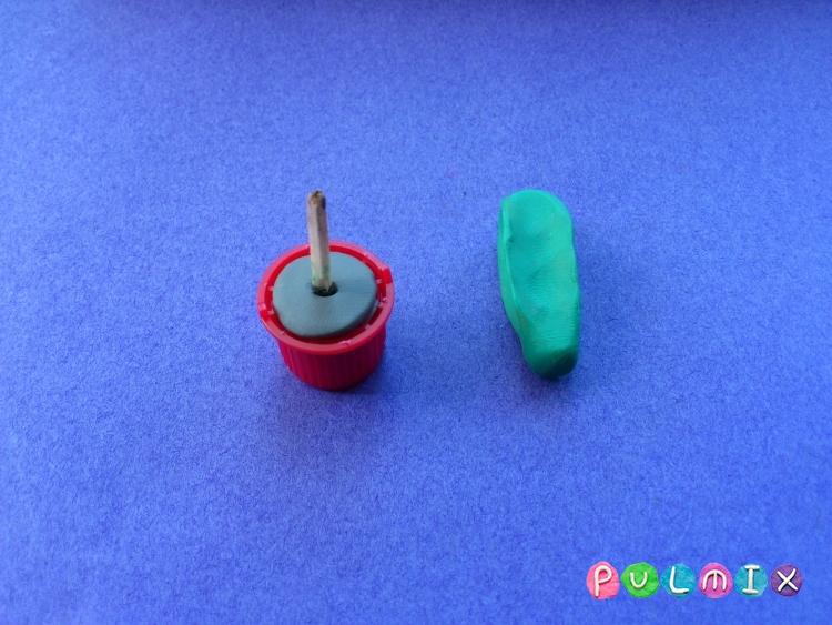 Как слепить кактус из пластилина поэтапно - шаг 3