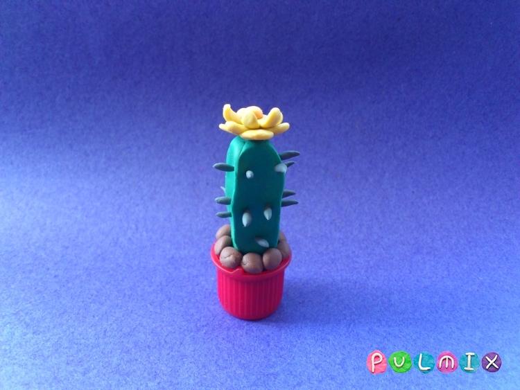 Как слепить кактус из пластилина поэтапно - шаг 7