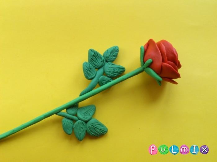 Как слепить розу из пластилина поэтапно - шаг 10
