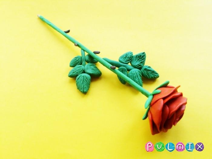 Как слепить розу из пластилина поэтапно - шаг 11