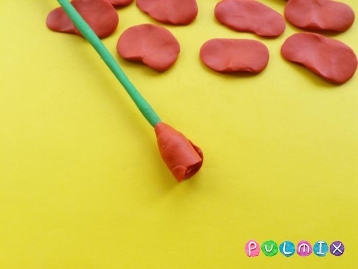 Как слепить розу из пластилина поэтапно - шаг 5