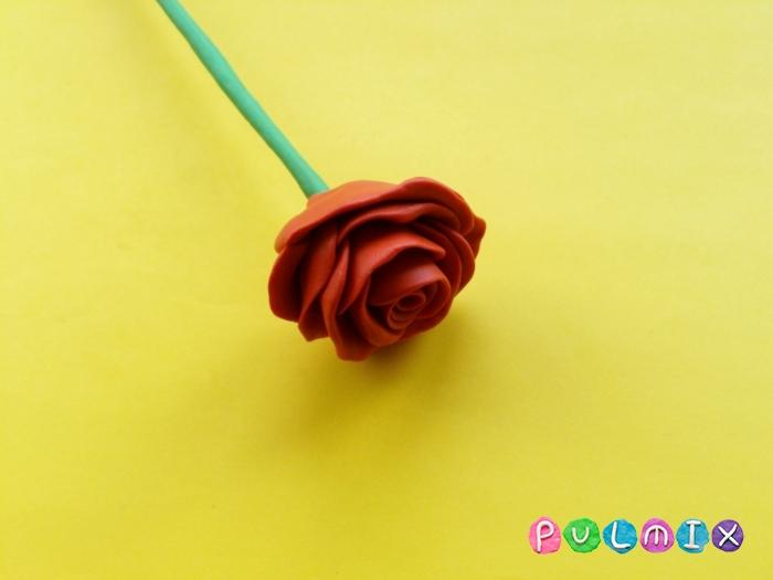 Как слепить розу из пластилина поэтапно - шаг 7