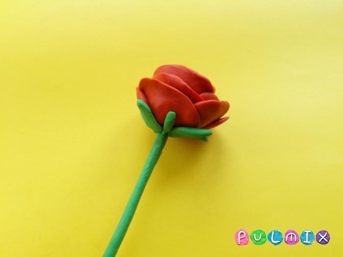 Как слепить розу из пластилина поэтапно - шаг 8