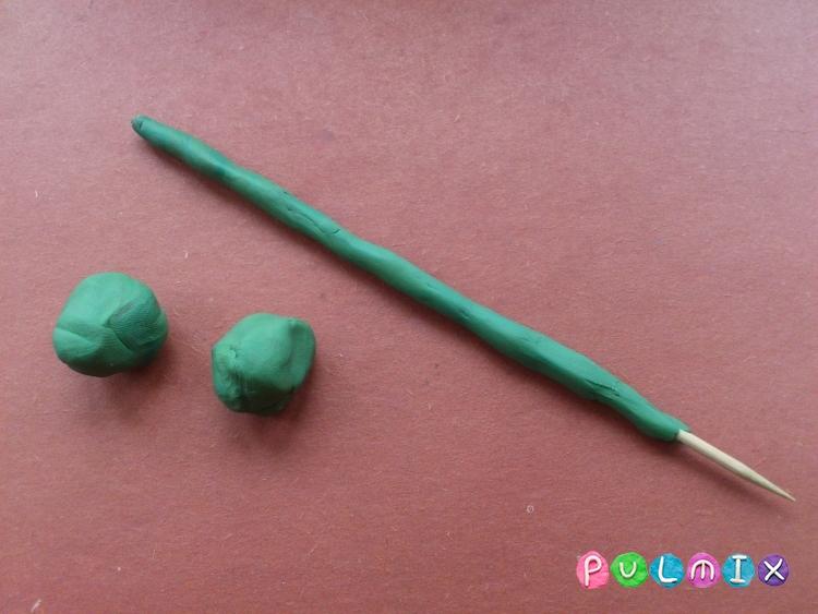 Как слепить тюльпан из пластилина поэтапно - шаг 3