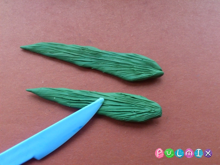Как слепить тюльпан из пластилина поэтапно - шаг 5