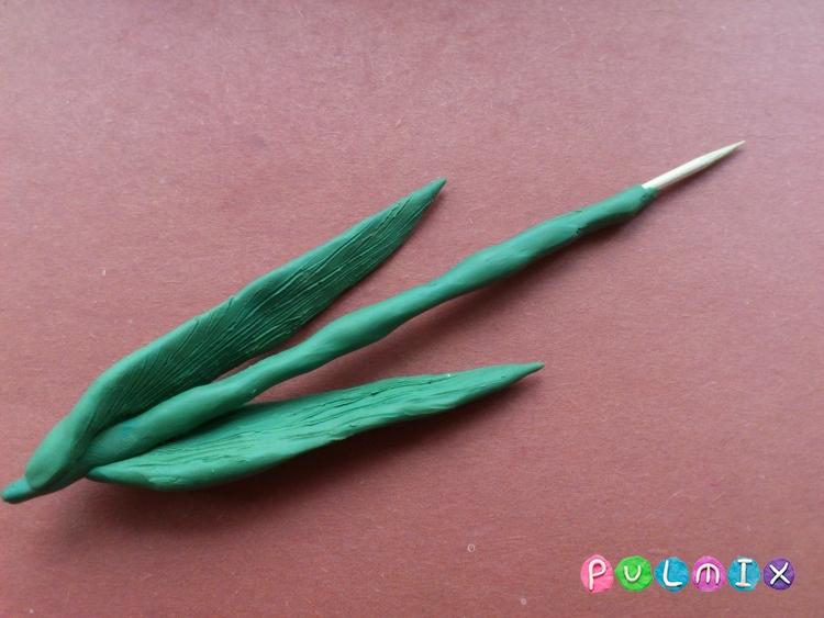 Как слепить тюльпан из пластилина поэтапно - шаг 6
