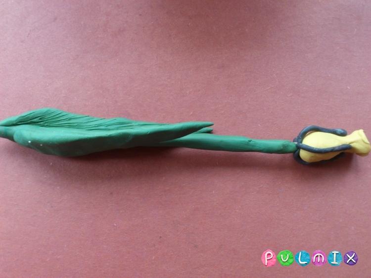 Как слепить тюльпан из пластилина поэтапно - шаг 8