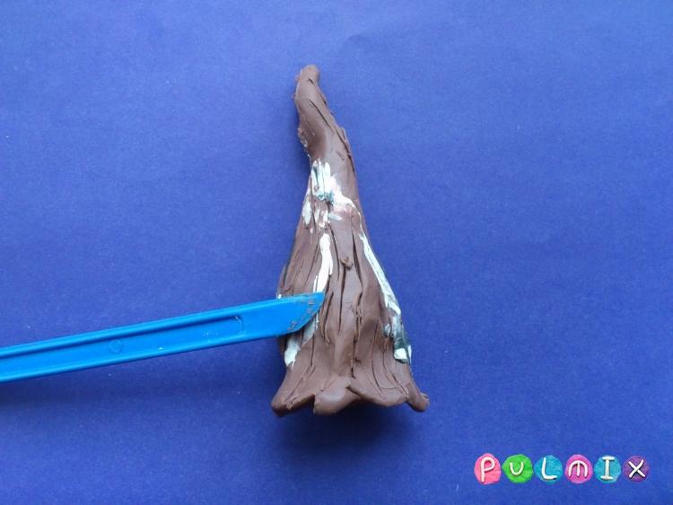 Как слепить зимнее дерево из пластилина поэтапно - шаг 3
