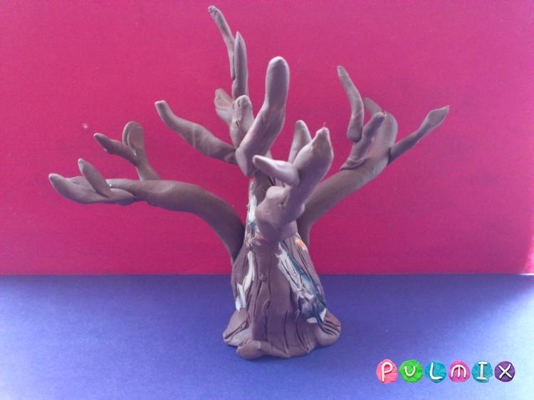 Как слепить зимнее дерево из пластилина поэтапно - шаг 4