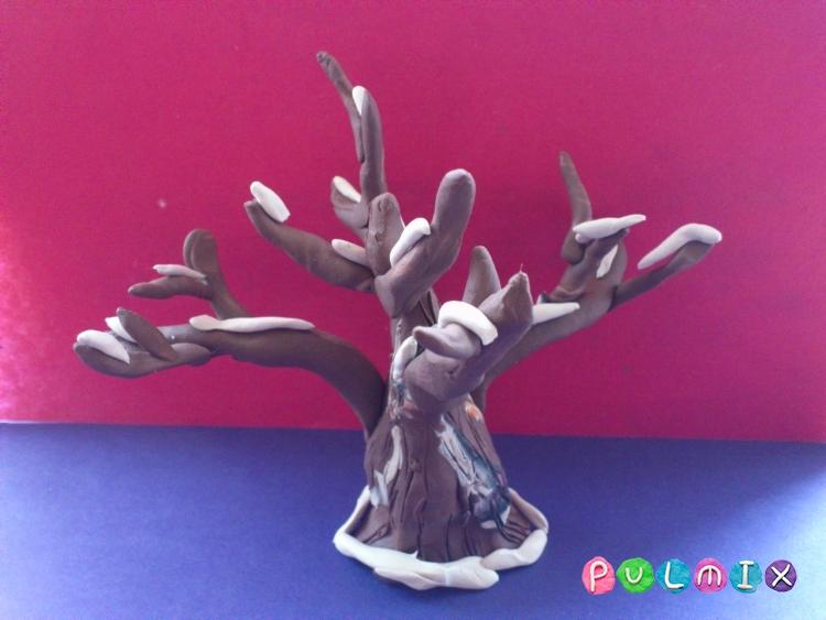 Как слепить зимнее дерево из пластилина поэтапно - шаг 5