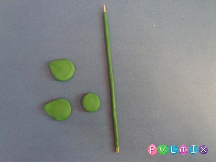 Подсолнух из пластилина поэтапный урок - шаг 3
