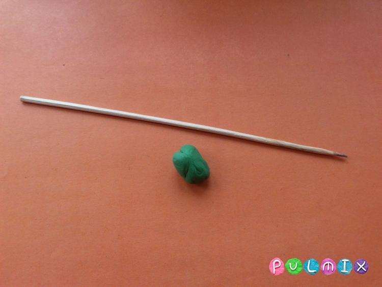 Ромашка из пластилина поэтапно с фото - шаг 2