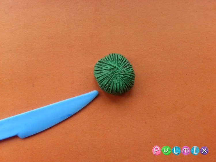 Ромашка из пластилина поэтапно с фото - шаг 7