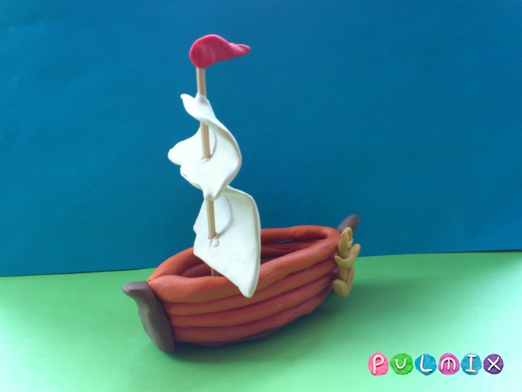 Как слепить кораблик из пластилина - шаг 11