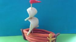 Как слепить кораблик с парусами  своими руками