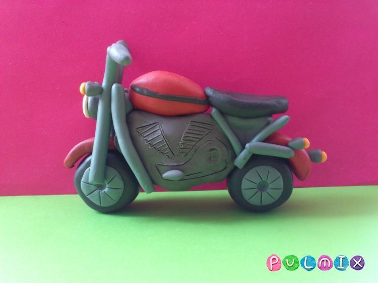 Как слепить мотоцикл из пластилина - шаг 11