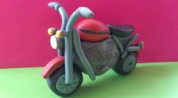 Как слепить мотоцикл из пластилина своими руками поэтапно