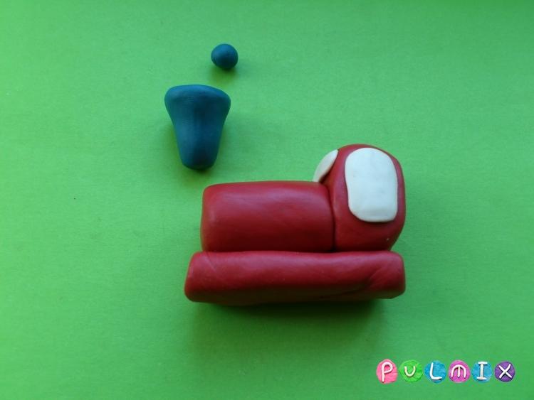 Как слепить паровозик из пластилина - шаг 4