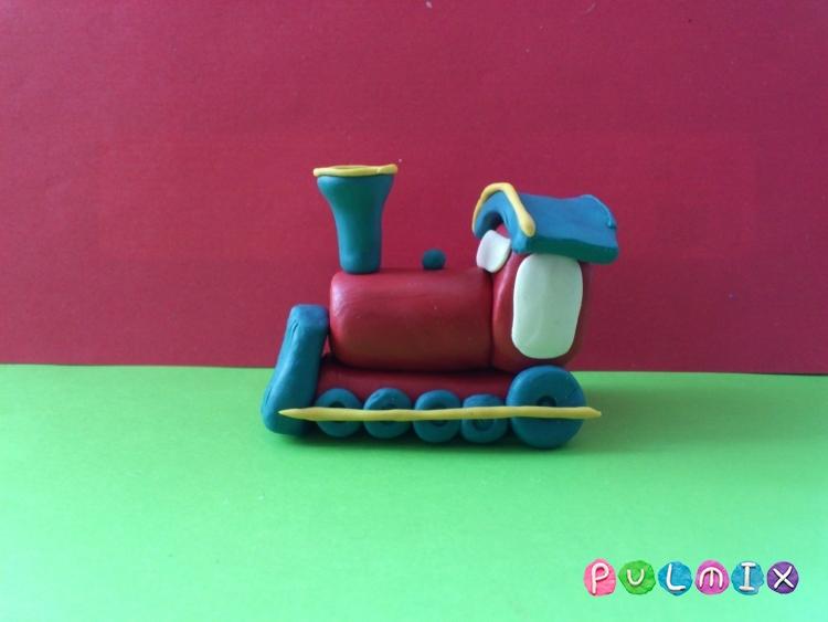 Как слепить паровозик из пластилина - шаг 9