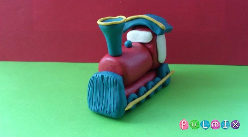 Как слепить паровозик из пластилина пошагово