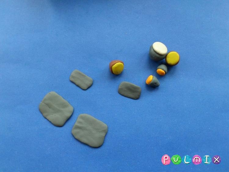 Как слепить военную бронемашину из пластилина - шаг 5