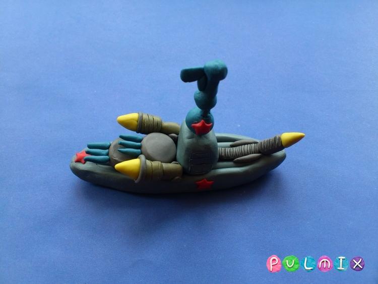 Как слепить военный корабль из пластилина поэтапно - шаг 6