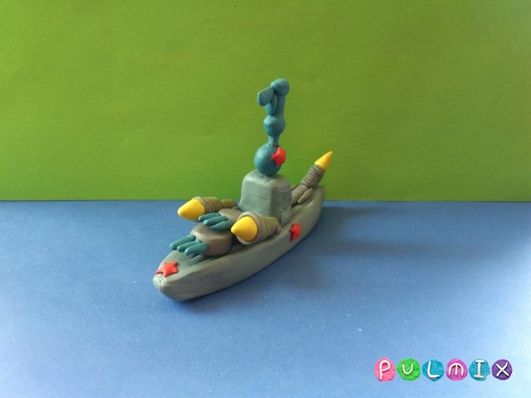 Как слепить военный корабль из пластилина поэтапно - шаг 8