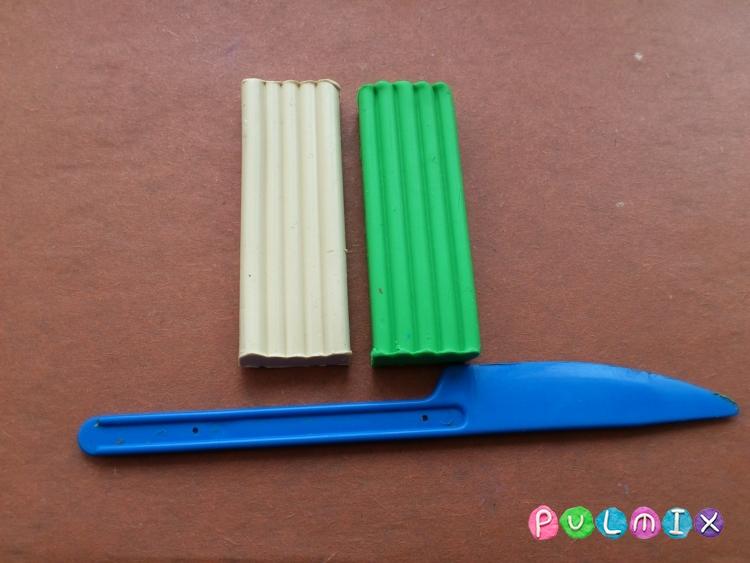 Как легко слепить троллейбус из пластилина фото урок - шаг 1
